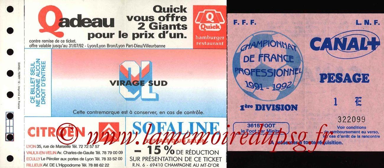 1991-09-07  Lyon-PSG (9ème D1, Sans Nom)