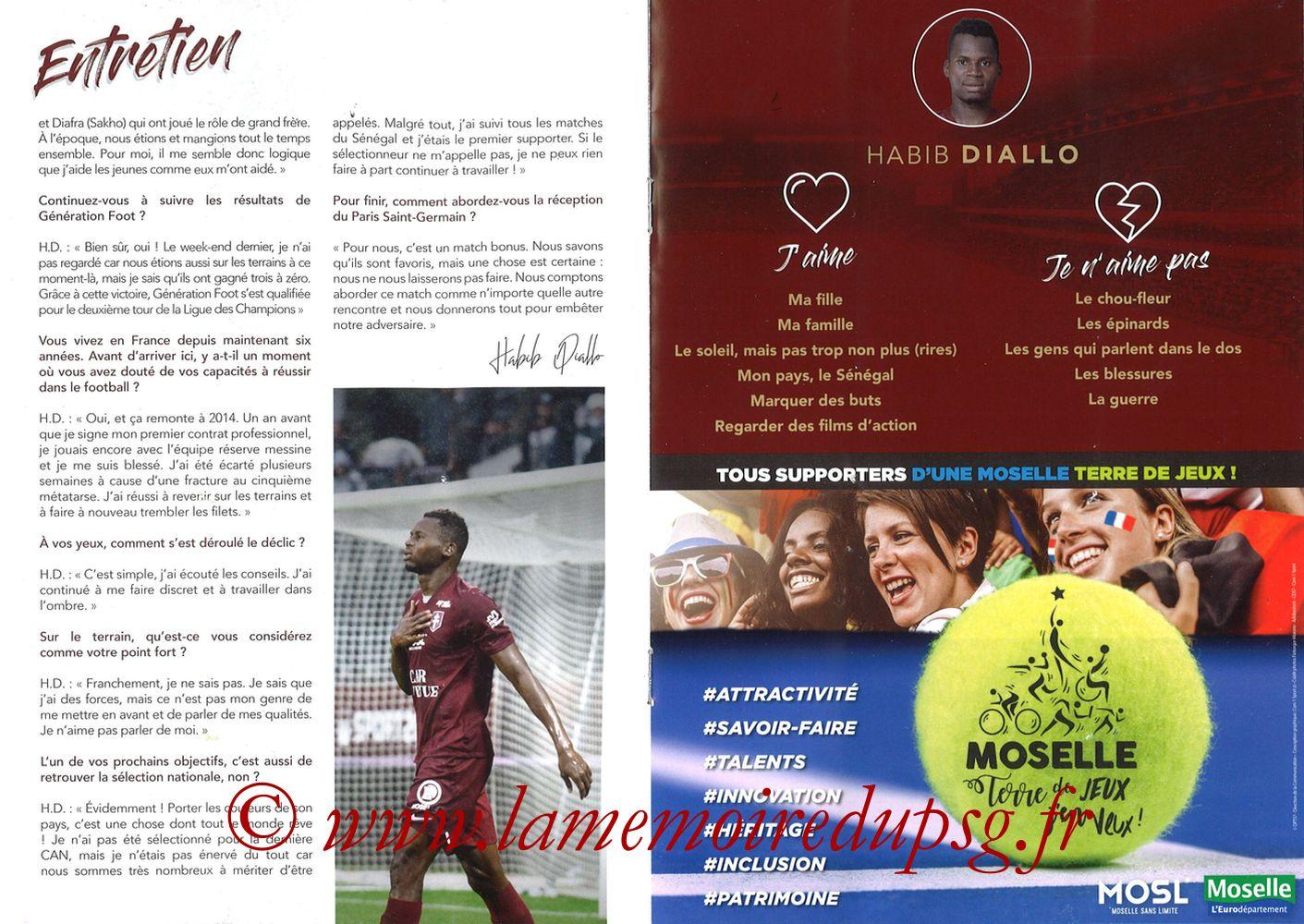 2019-08-30  Metz-PSG (4ème L1, La Gazette de Saint-Symph') - Pages 10 et 11