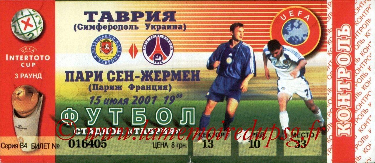 2001-07-15  Simferopol-PSG (3ème Tour Aller Intertoto)