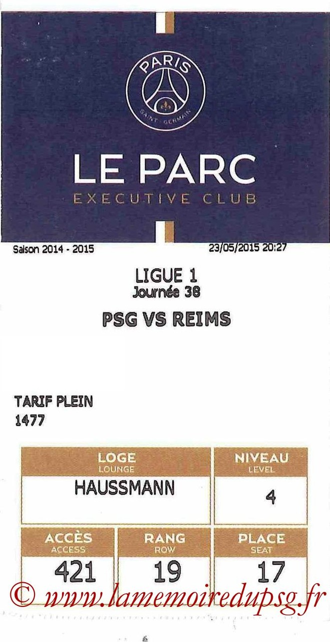 2015-05-23  PSG-Reims (38ème L1, E-ticket Executive club)