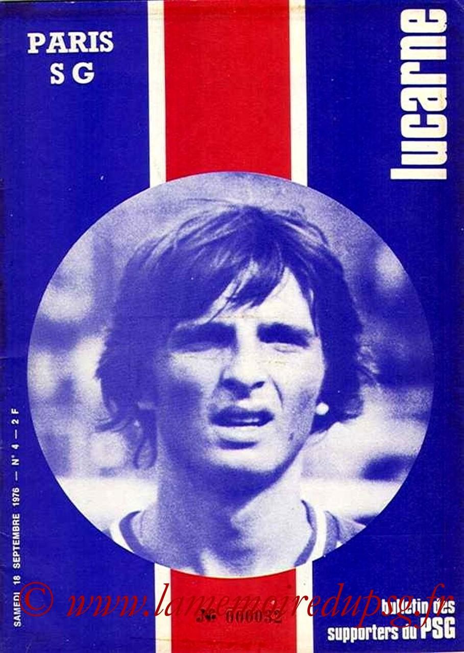 1976-09-18  PSG-Reims (7ème D1, Lucarne N°4)