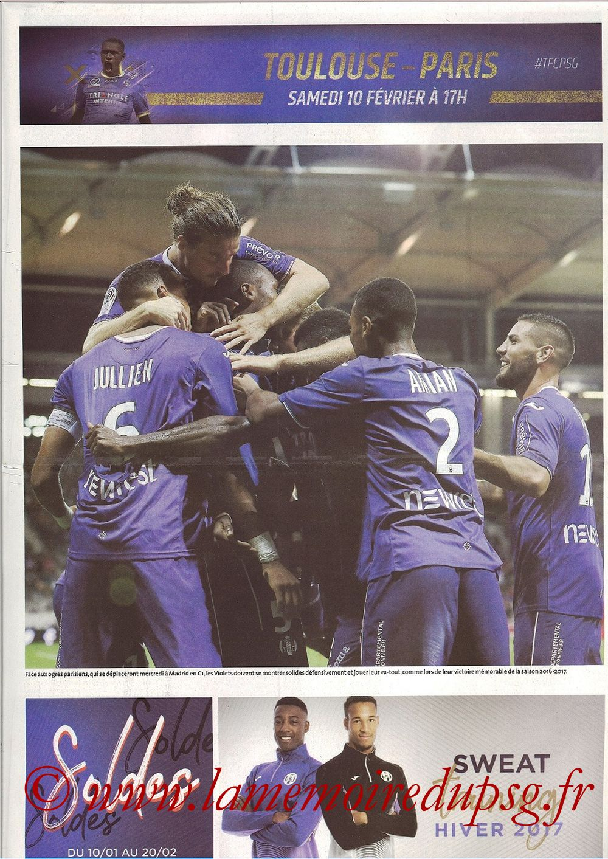2018-02-10  Toulouse-PSG (25ème L1, Programme officiel)