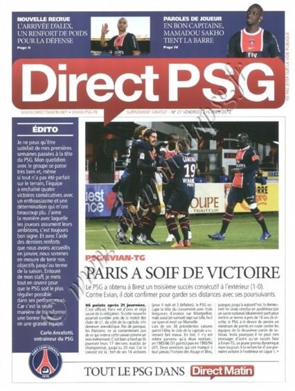 2012-02-04  PSG-Evian TG (22ème L1, Direct PSG N°27)