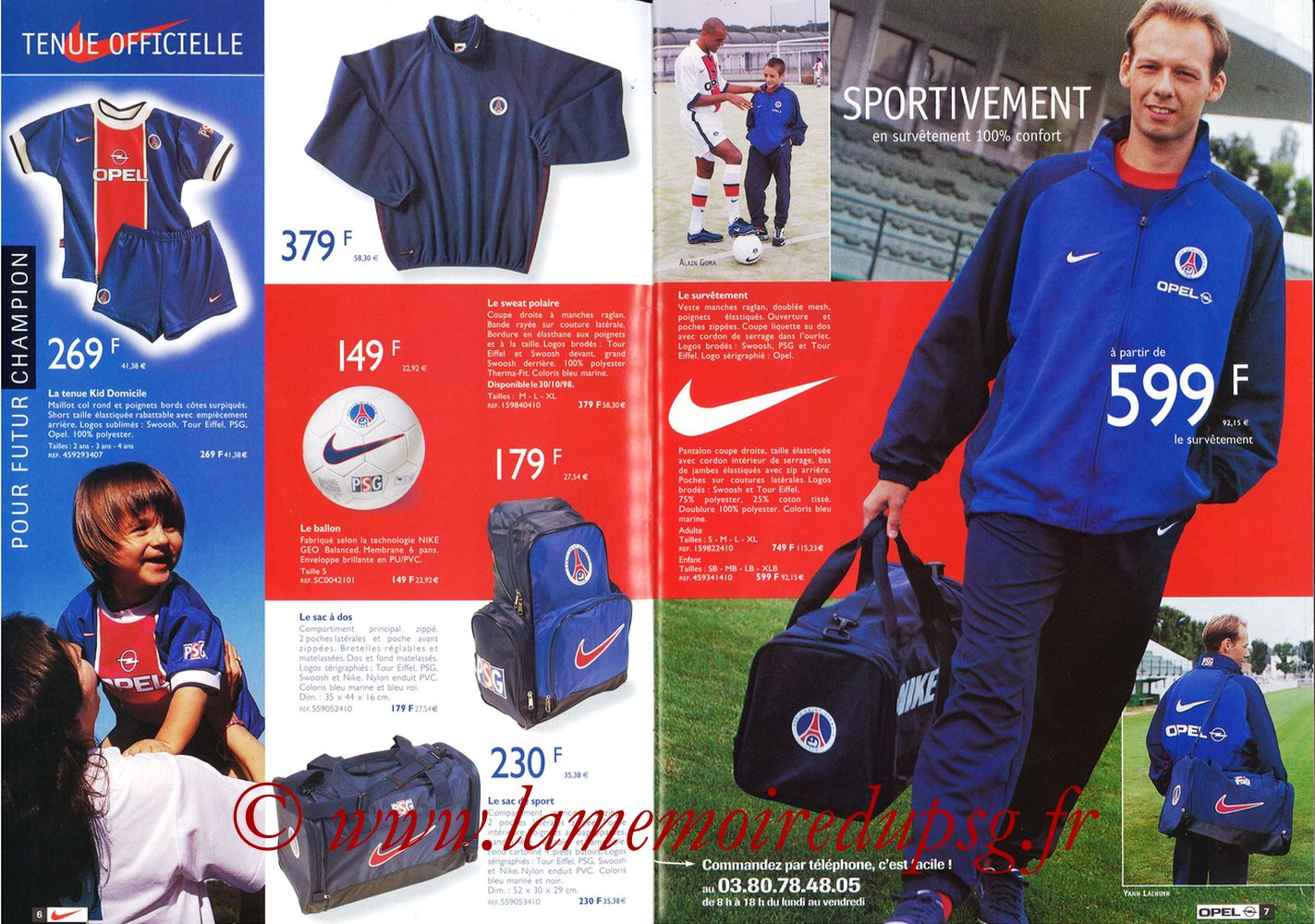 Catalogue PSG - 1998-99 - Pages 06 et 07