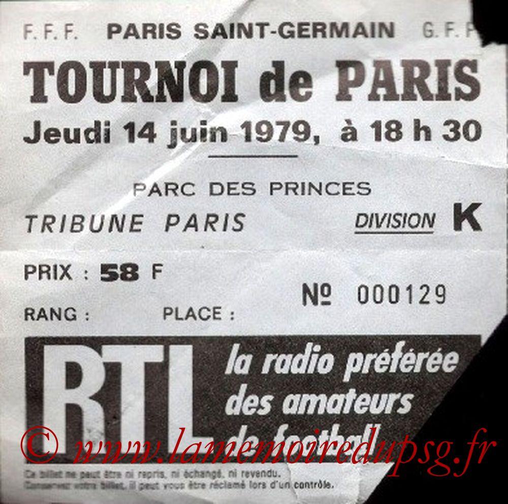 1979-06-14  PSG-Sélection Brésilienne (Match 3ème Place Tournoi de Paris)