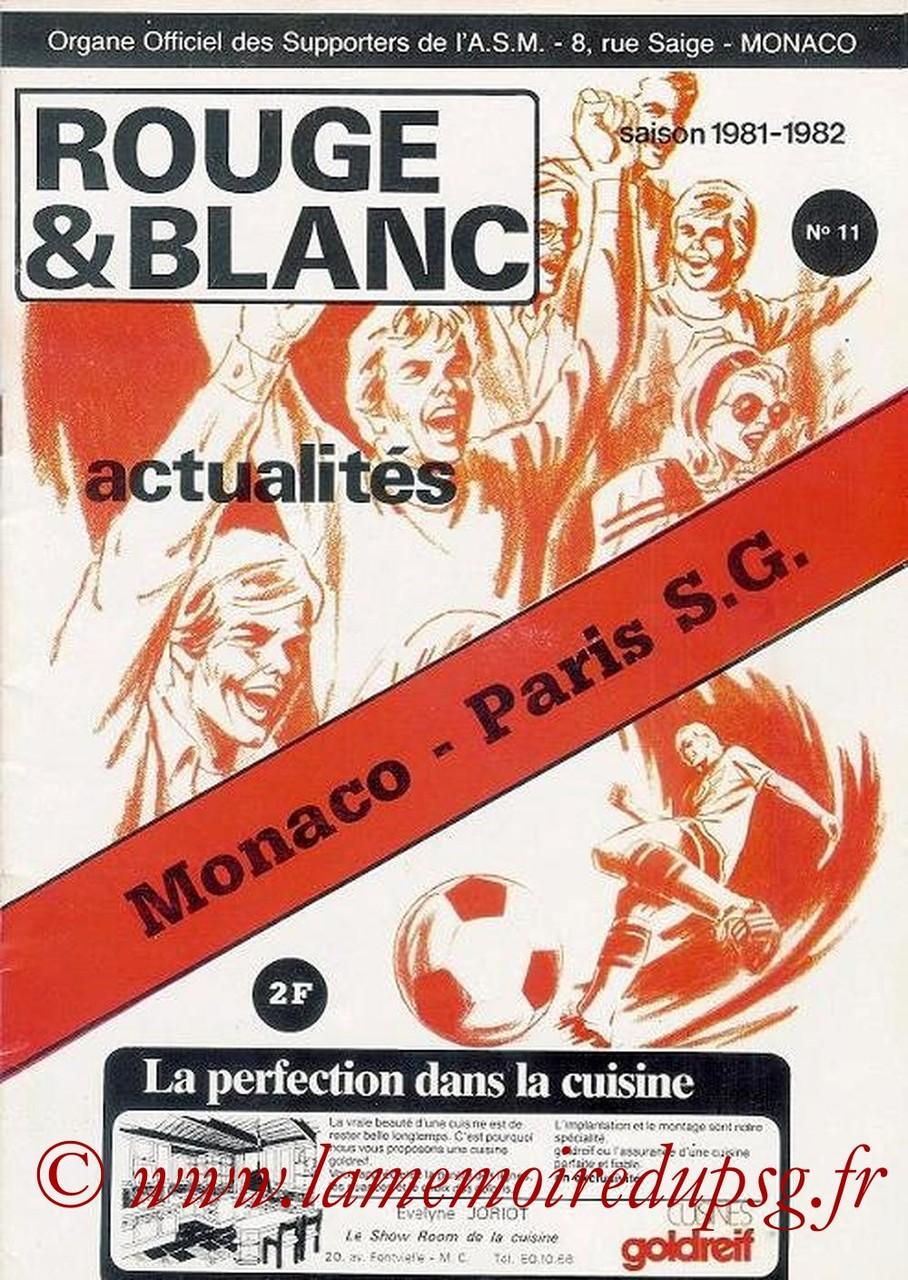 1981-12-19  Monaco-PSG (22ème D1, Rouge & Blanc N°11)