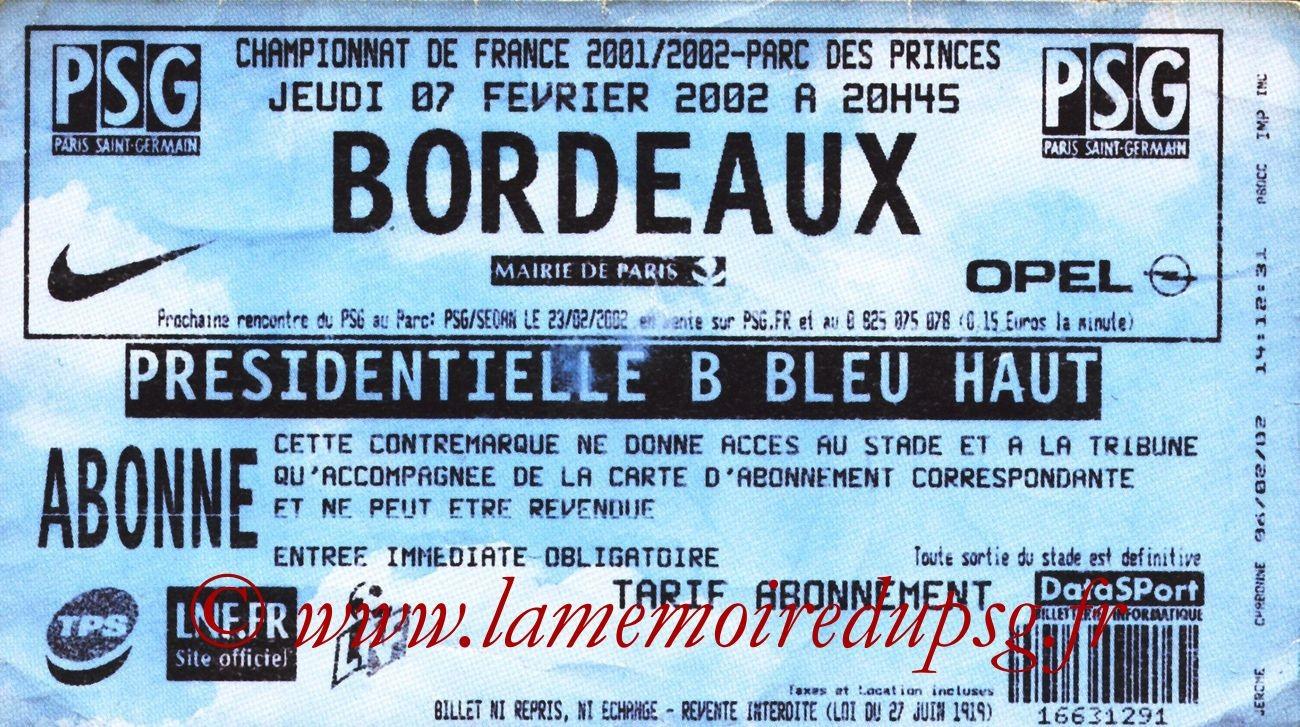 2002-02-07  PSG-Bordeaux (25ème D1, bis)