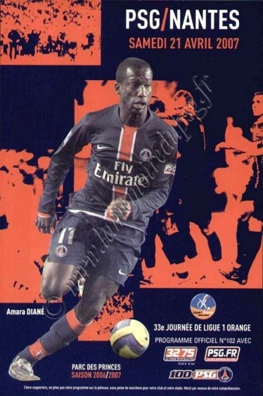 2007-04-21  PSG-Nantes (33ème L1, Officiel N°102)