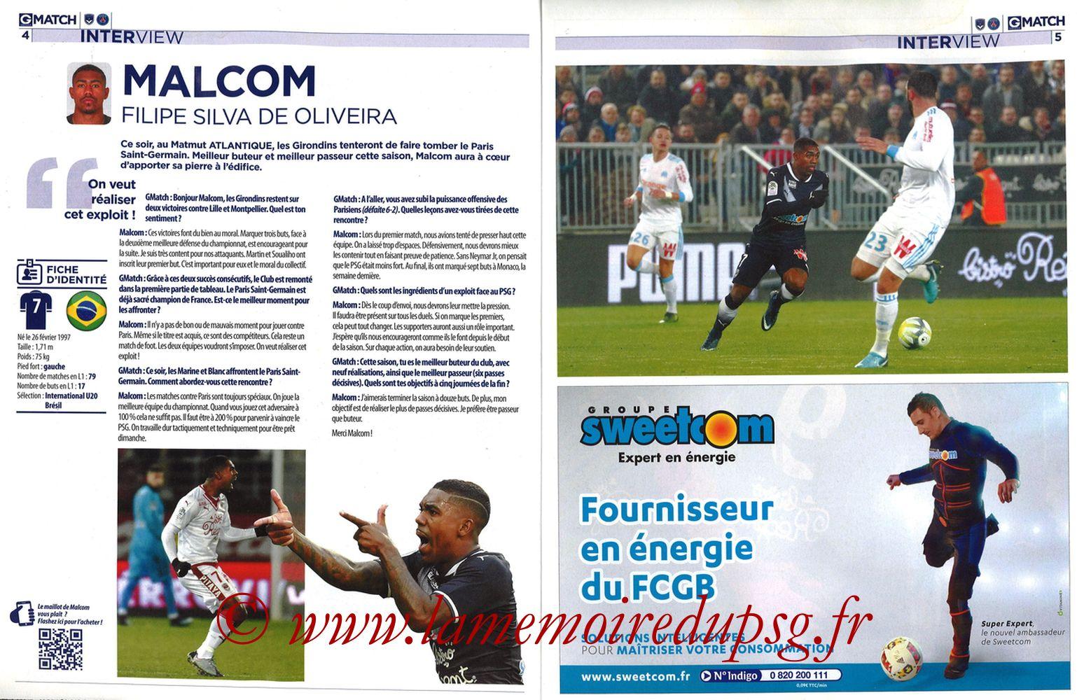 2018-04-22  Bordeaux-PSG (34ème L1, Girondins Match N°59) - Pages 04 et 05