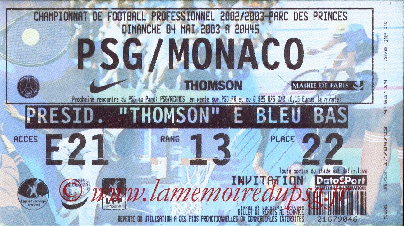 2003-05-04  PSG-Monaco (35ème L1)