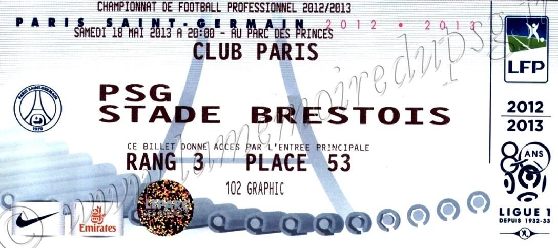 2013-05-18  PSG-Brest (37ème L1, Club Paris)