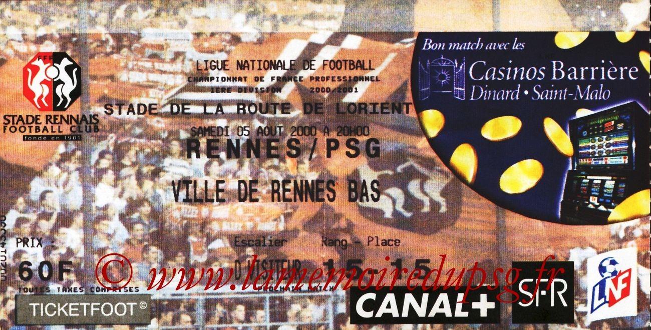 2000-08-05  Rennes-PSG (2ème D1)