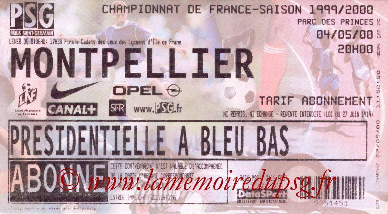 2000-05-04  PSG-Montpellier (33ème D1)