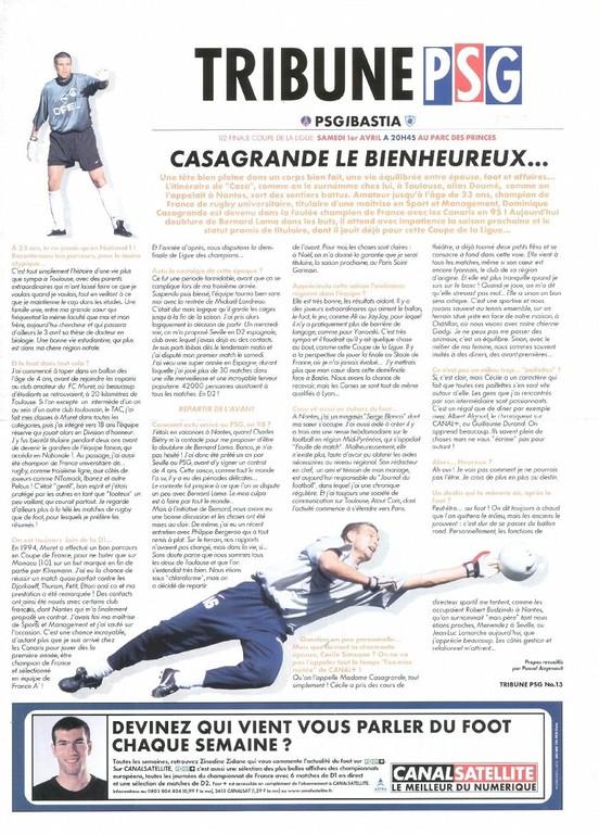 2000-04-01  PSG-Bastia (Demi-Finale CL, Tribune PSG N°13)