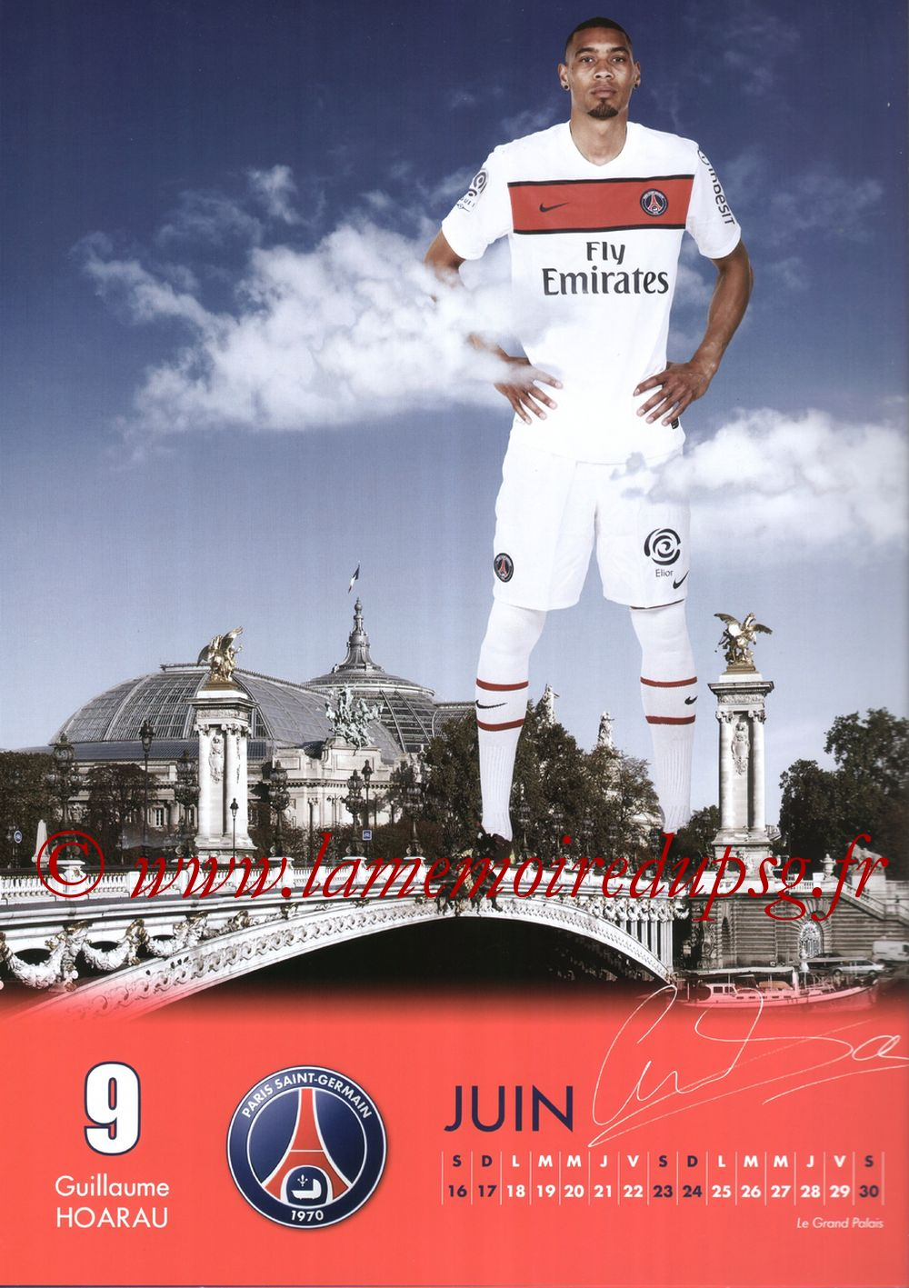 Calendrier PSG 2012 - Page 12 - Guillaume HOARAU