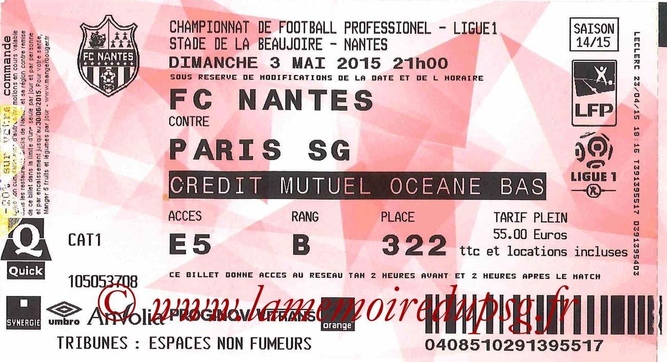 2015-05-03  Nantes-PSG (35ème L1)