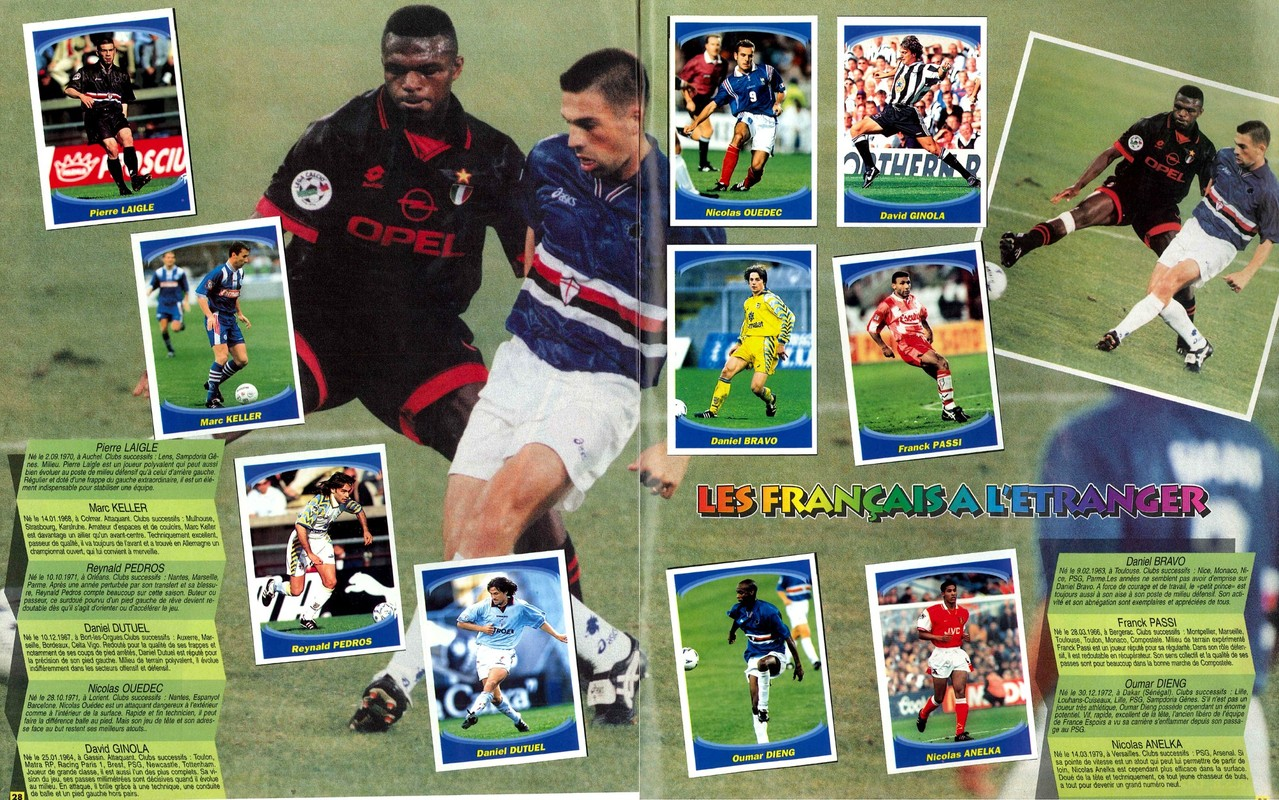 1997-98 - Panini Superfoot - Pages 28 et 29 - Les français de l'étranger