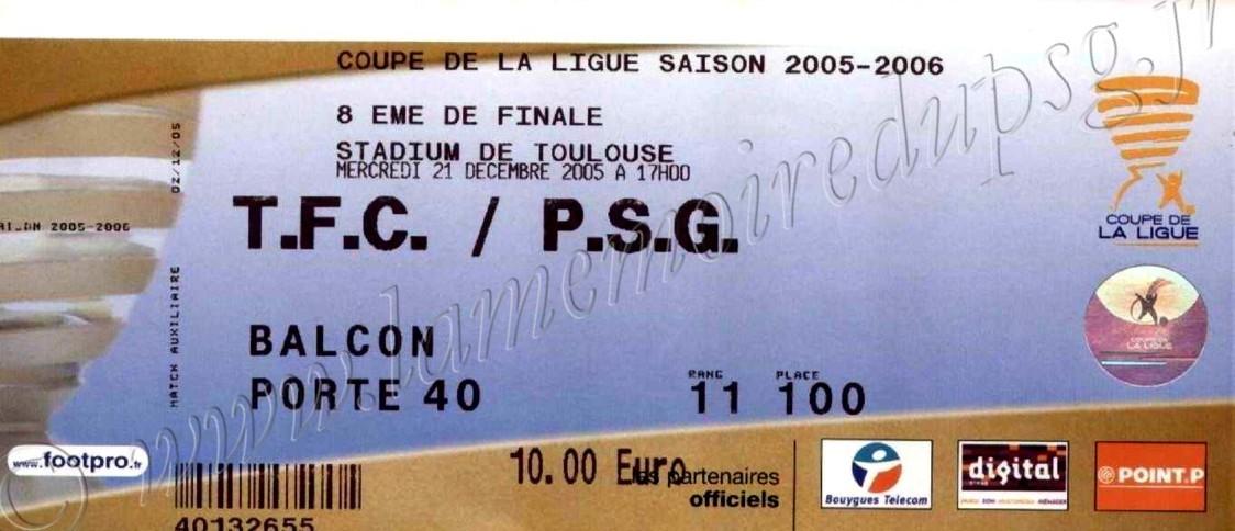 2005-12-21  Toulouse-PSG (8ème Finale CL)