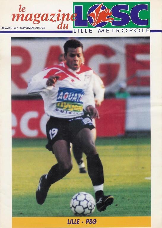 1997-04-30  Lille-PSG (35ème D1, Le magazine du LOSC N°39)