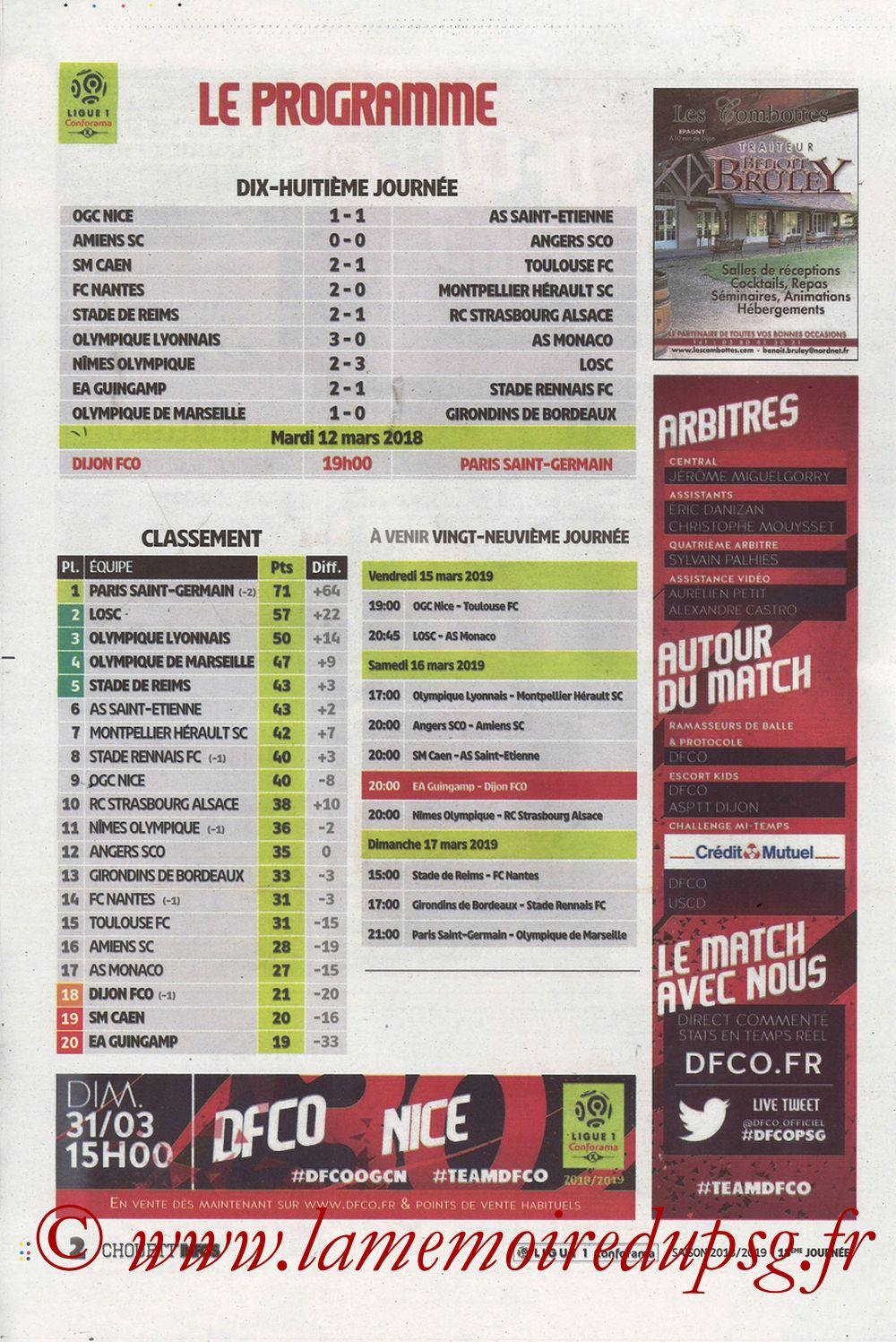 2019-03-12  Dijon-PSG (18ème L1 en retard, Chouett'Infos) - Page 02