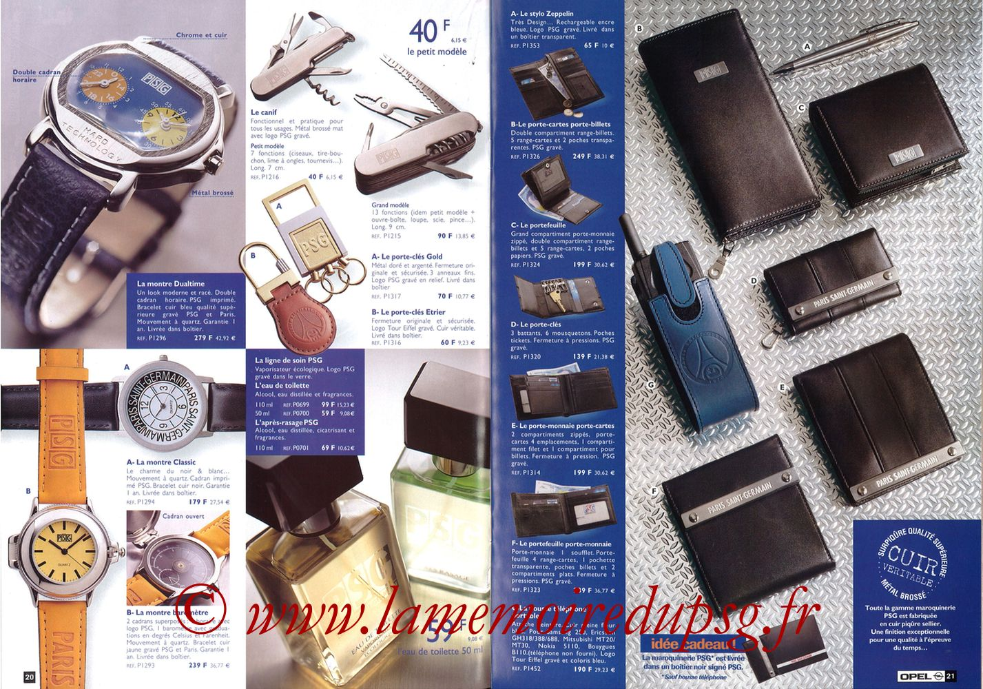 Catalogue PSG - 1998-99 - Pages 20 et 21