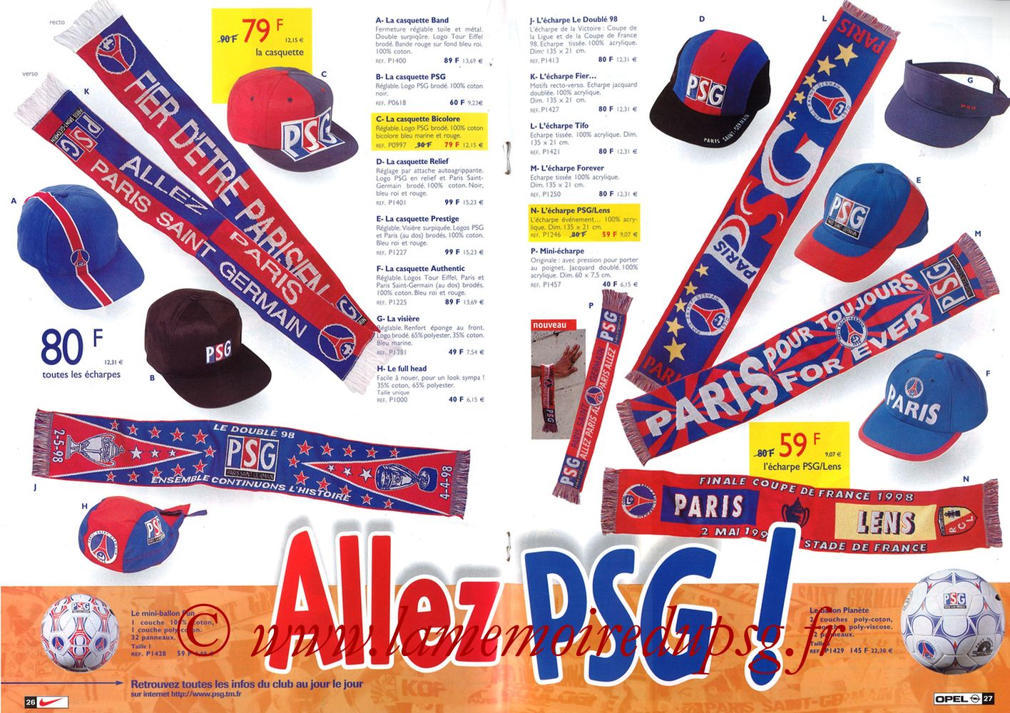 Catalogue PSG - 1998-99 - Pages 26 et 27