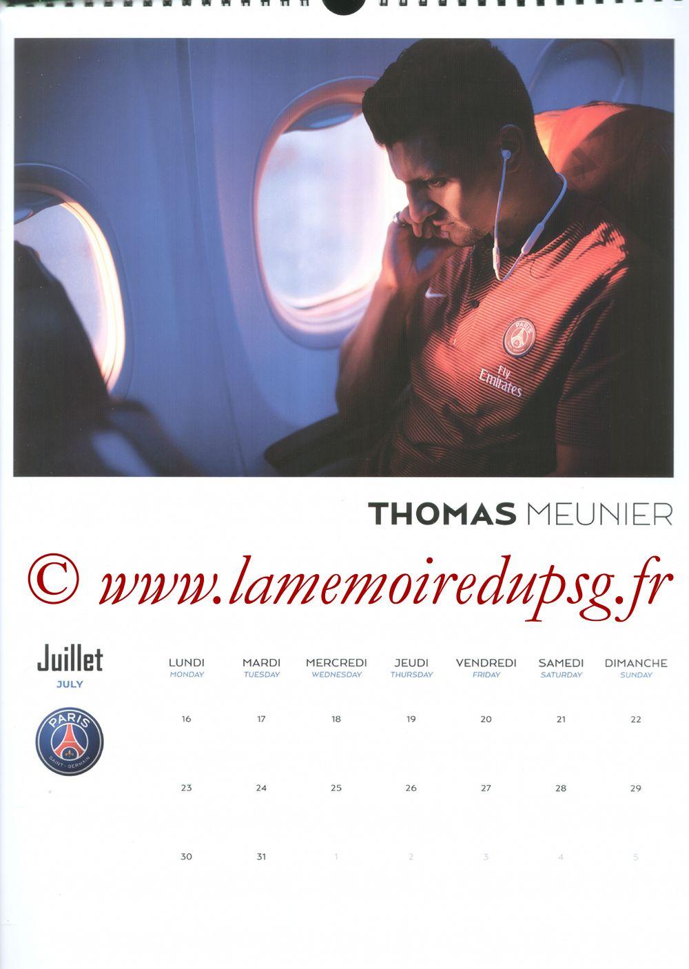 Calendrier PSG 2018 - Page 14 - Thomas MEUNIER