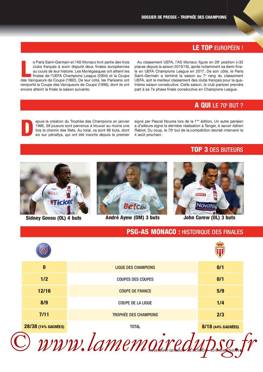 2018-08-04  PSG-Monaco (Trophée des Champions à Shenzhen, Dossier de Presse) - Page 03