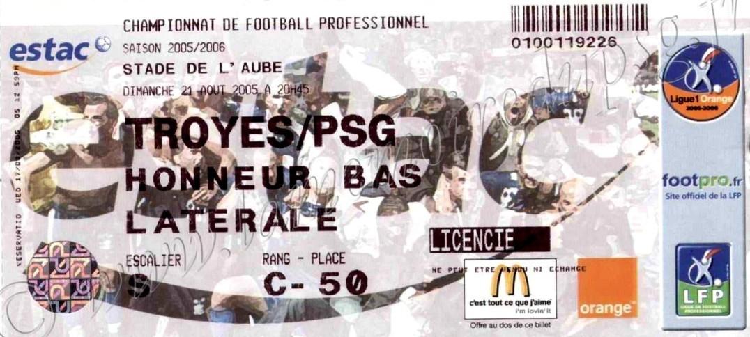 2005-08-21  Troyes-PSG (4ème L1)