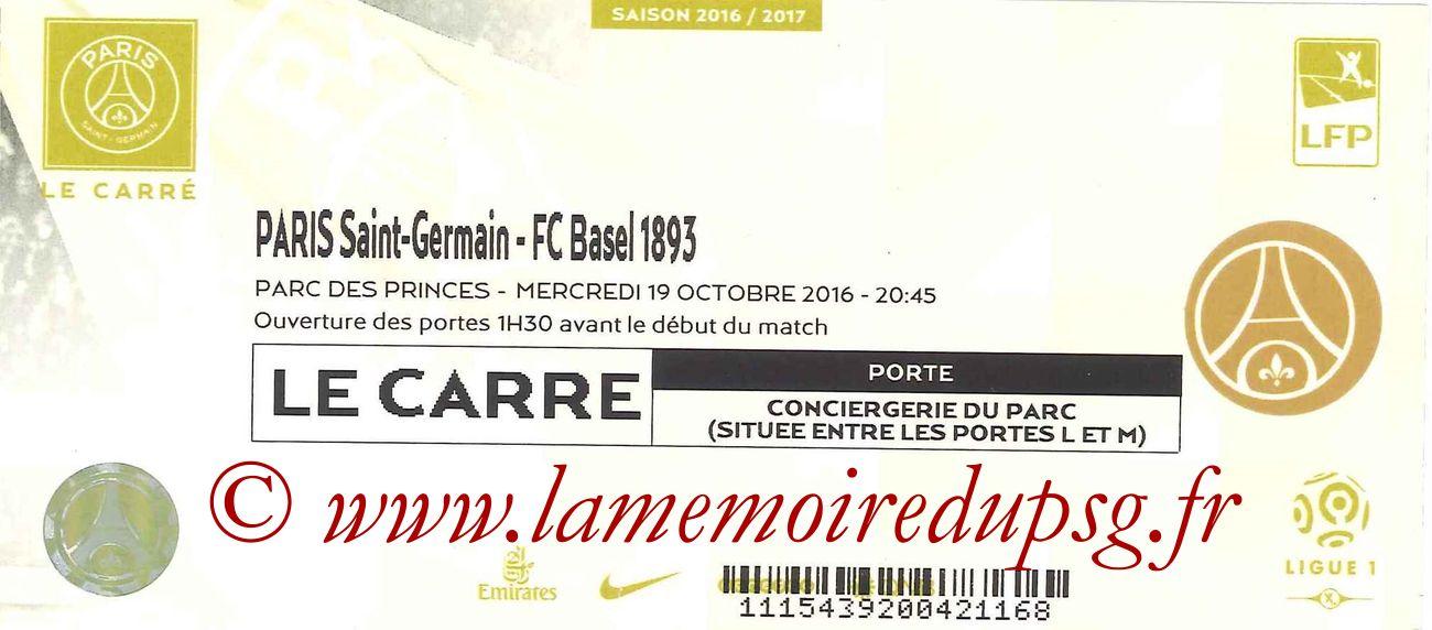 2016-10-19  PSG-FC Bale (3ème C1, Carré or)
