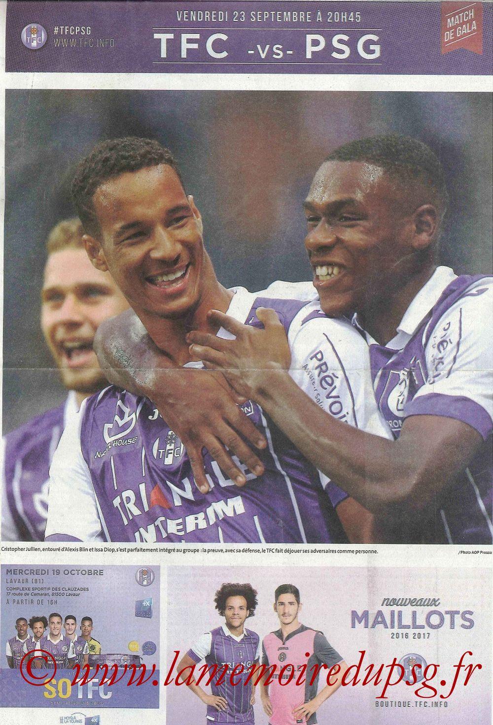 2016-09-23  Toulouse-PSG (7ème L1, Programme officiel)