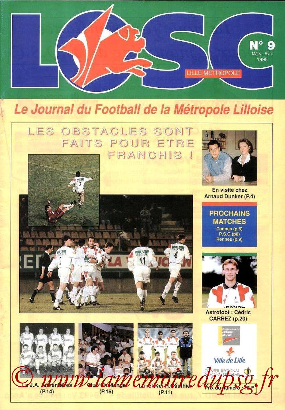1995-03-22  Lille-PSG (30ème D1, LOSC N°9)