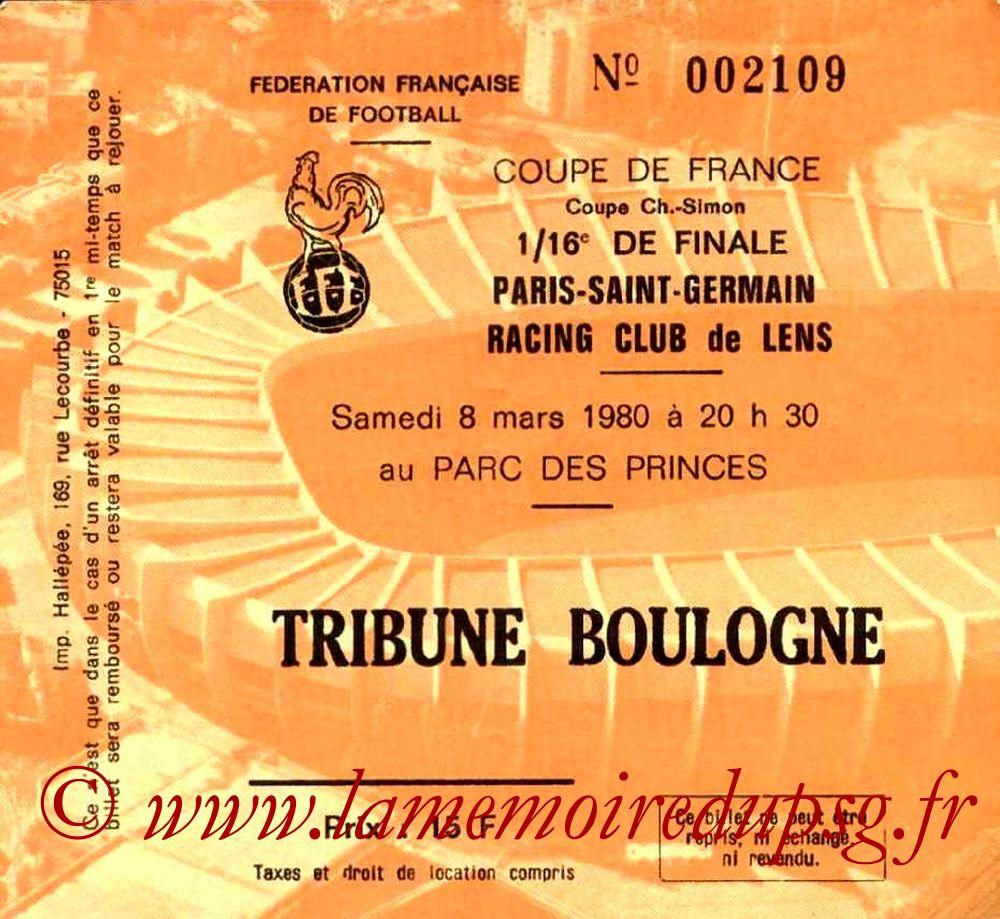 1980-03-08  PSG-Lens (16ème Finale Aller CF)