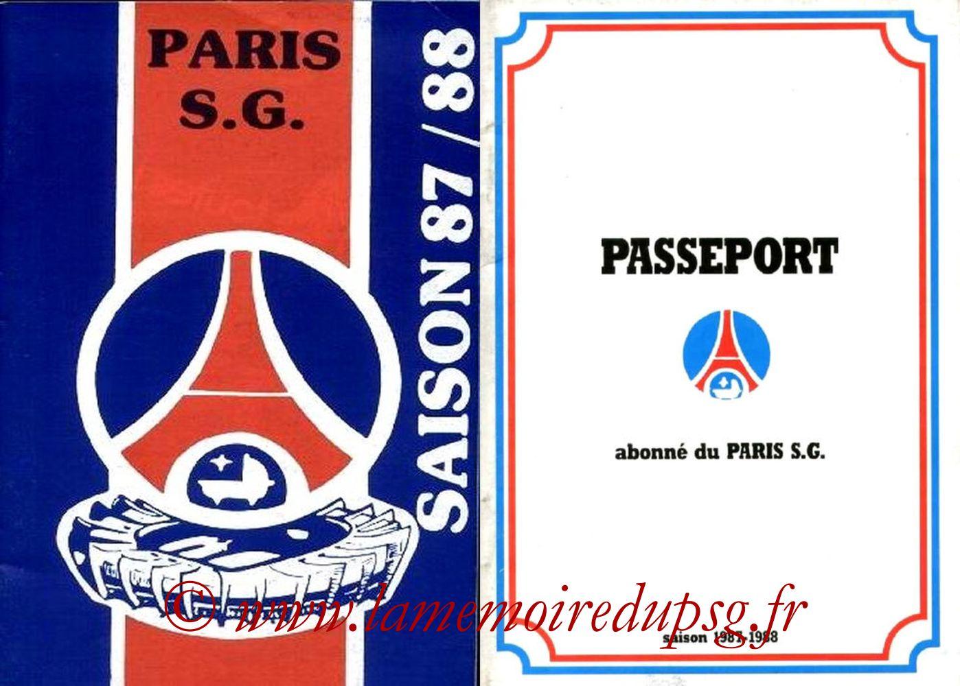 1987-88 - Guide de la Saison PSG