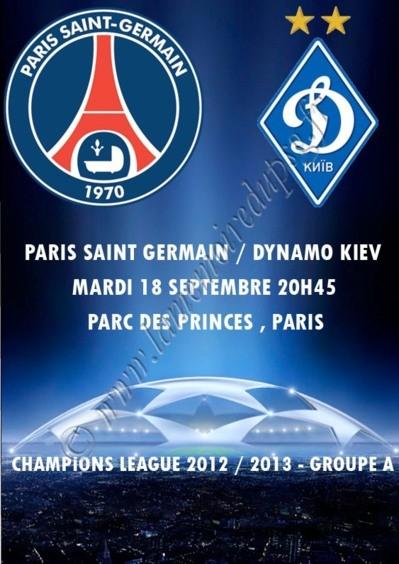 2012-09-18  PSG-Dynamo Kiev (1ère Journée Poule C1, Programme pirate)