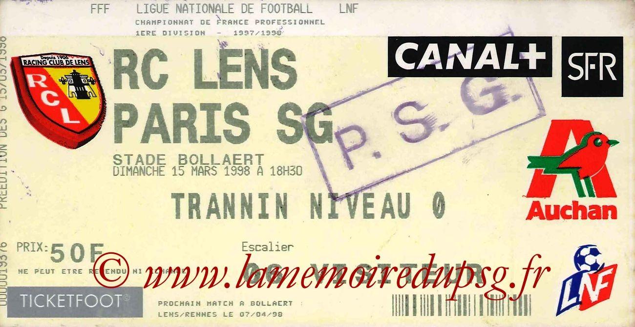 1998-03-15  Lens-PSG (29ème D1)