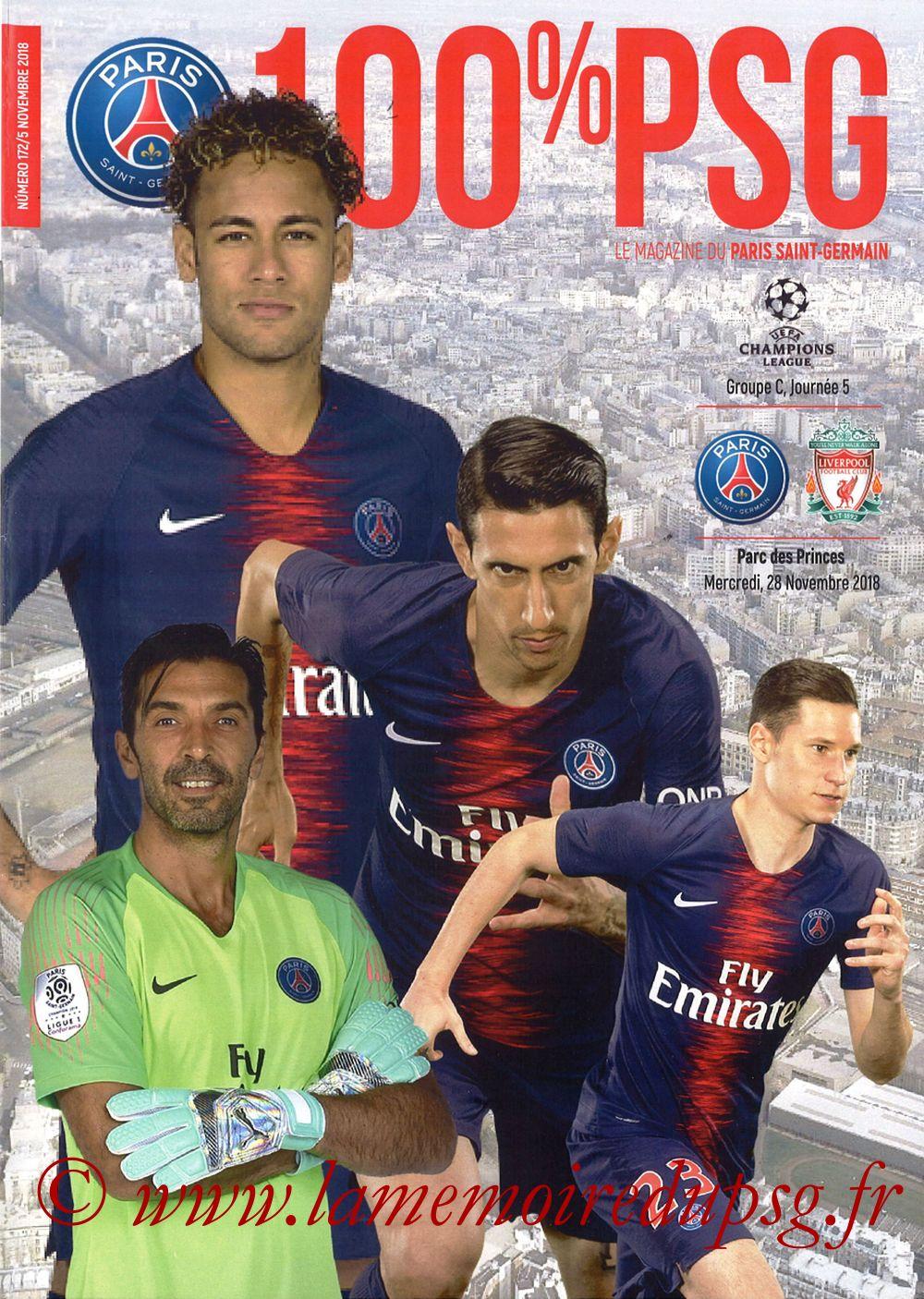 2018-11-28  PSG-Liverpool (5ème Poule C1, 100% PSG N° 172)