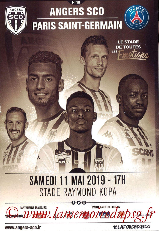2019-05-11  Angers-PSG (36ème L1, Programme officiel N°18)