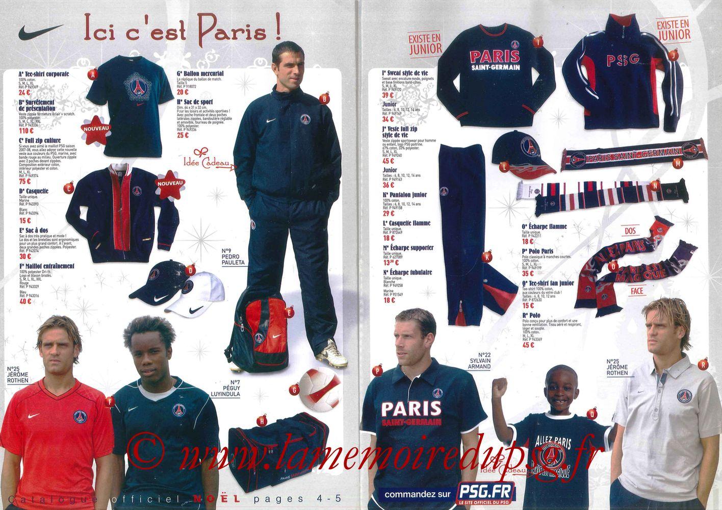Catalogue PSG - 2007-08 - Noêl - Pages 4 et 5