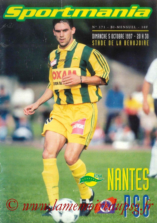 1997-10-05  Nantes-PSG (10ème D1, Sportmania N°171)