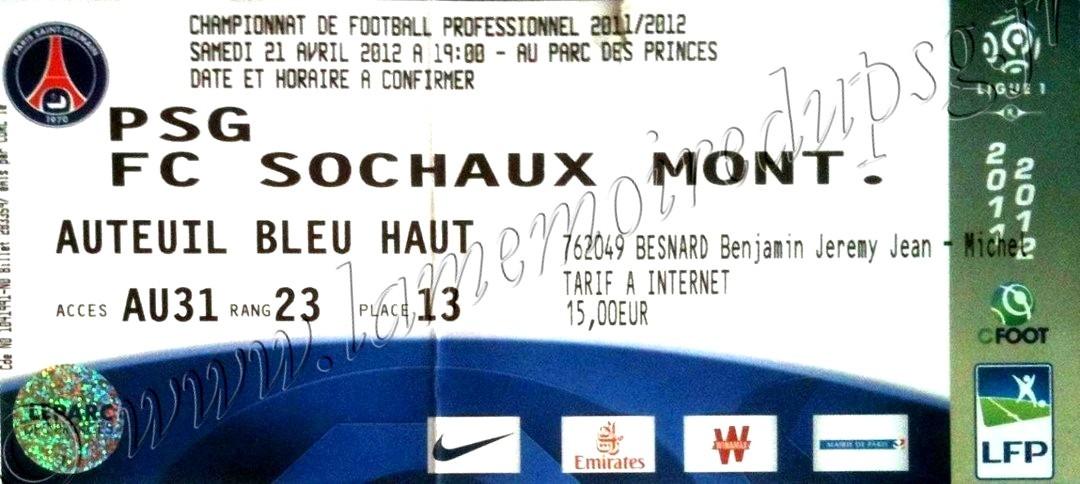 2012-04-22  PSG-Sochaux (33ème L1)