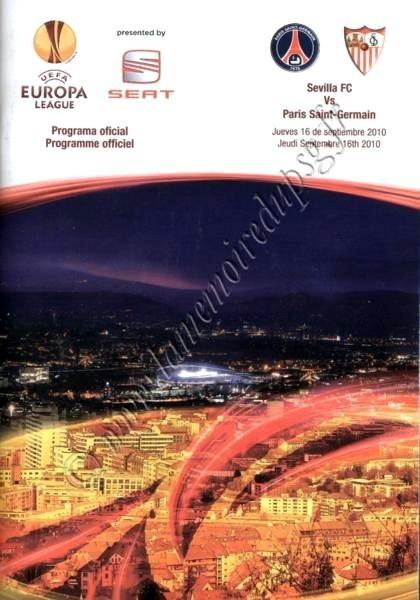 2010-09-16  Seville-PSG (1ère poule C3, Programme officiel)