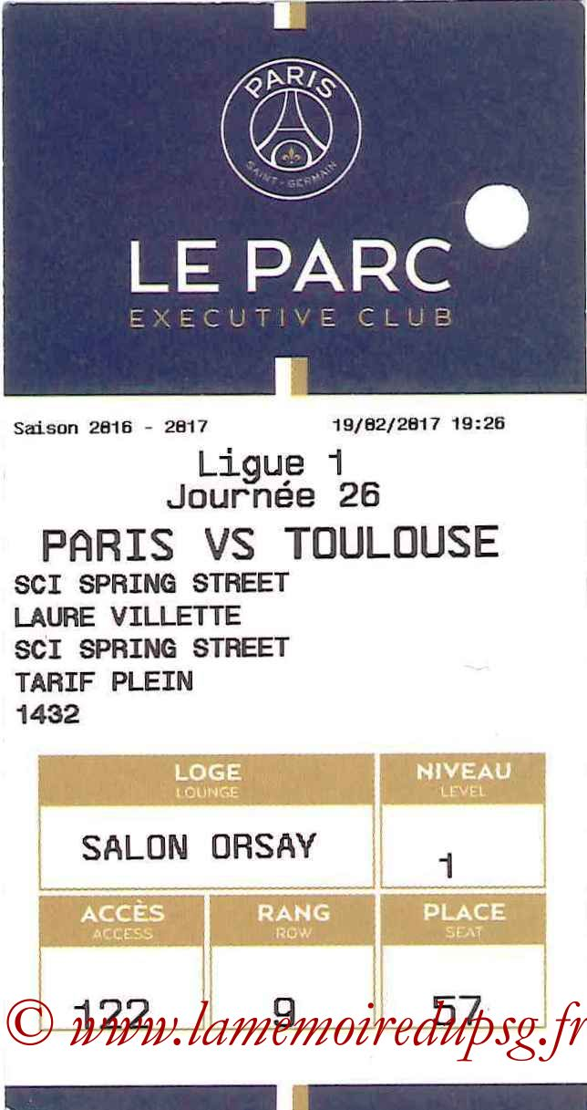 2017-02-19  PSG-Toulouse (26ème L1, E-ticket Executive club)