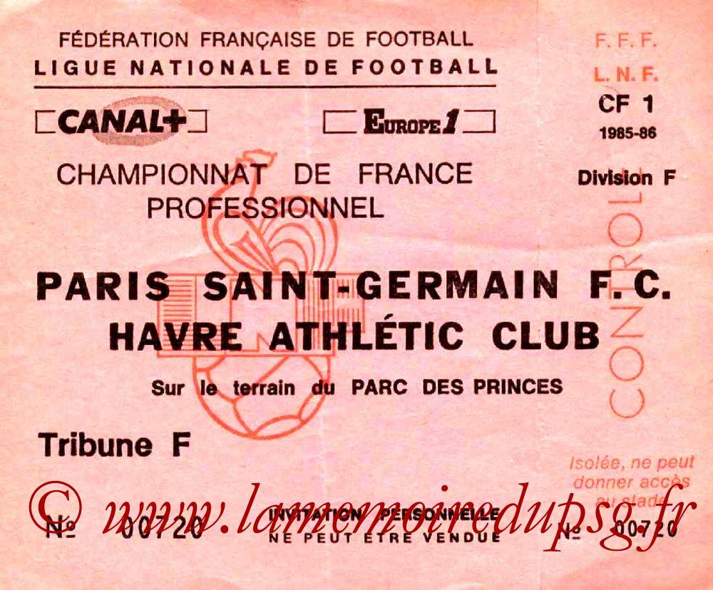 1986-02-08  PSG-Le Havre (29ème D1, Invitation)
