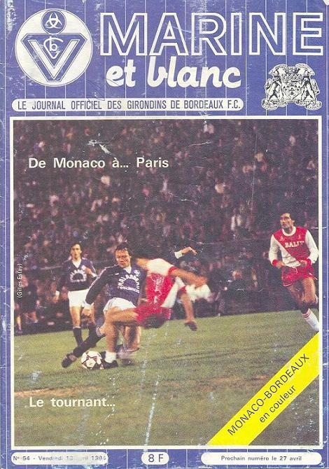 1984-04-14  Bordeaux-PSG (35ème D1, Marine et Blanc N°54)