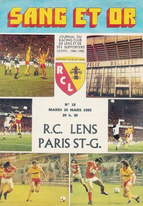 1985-03-26  Lens-PSG (30ème D1, Sang et Or N°14)