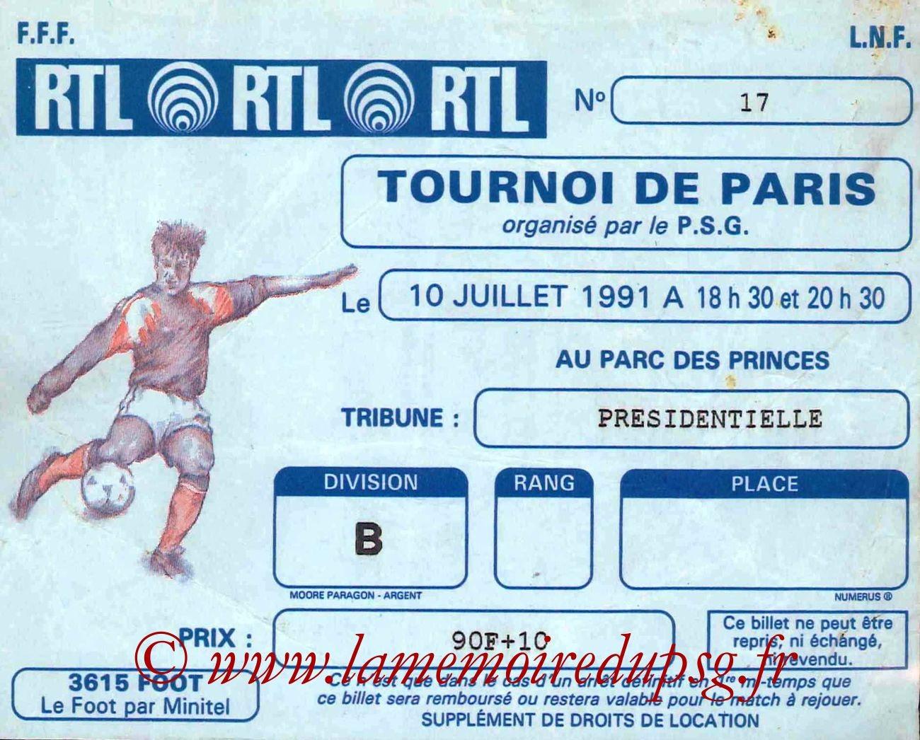 1991-07-10  PSG-Flamengo (Demi-Finale Tournoi de Paris, bis)