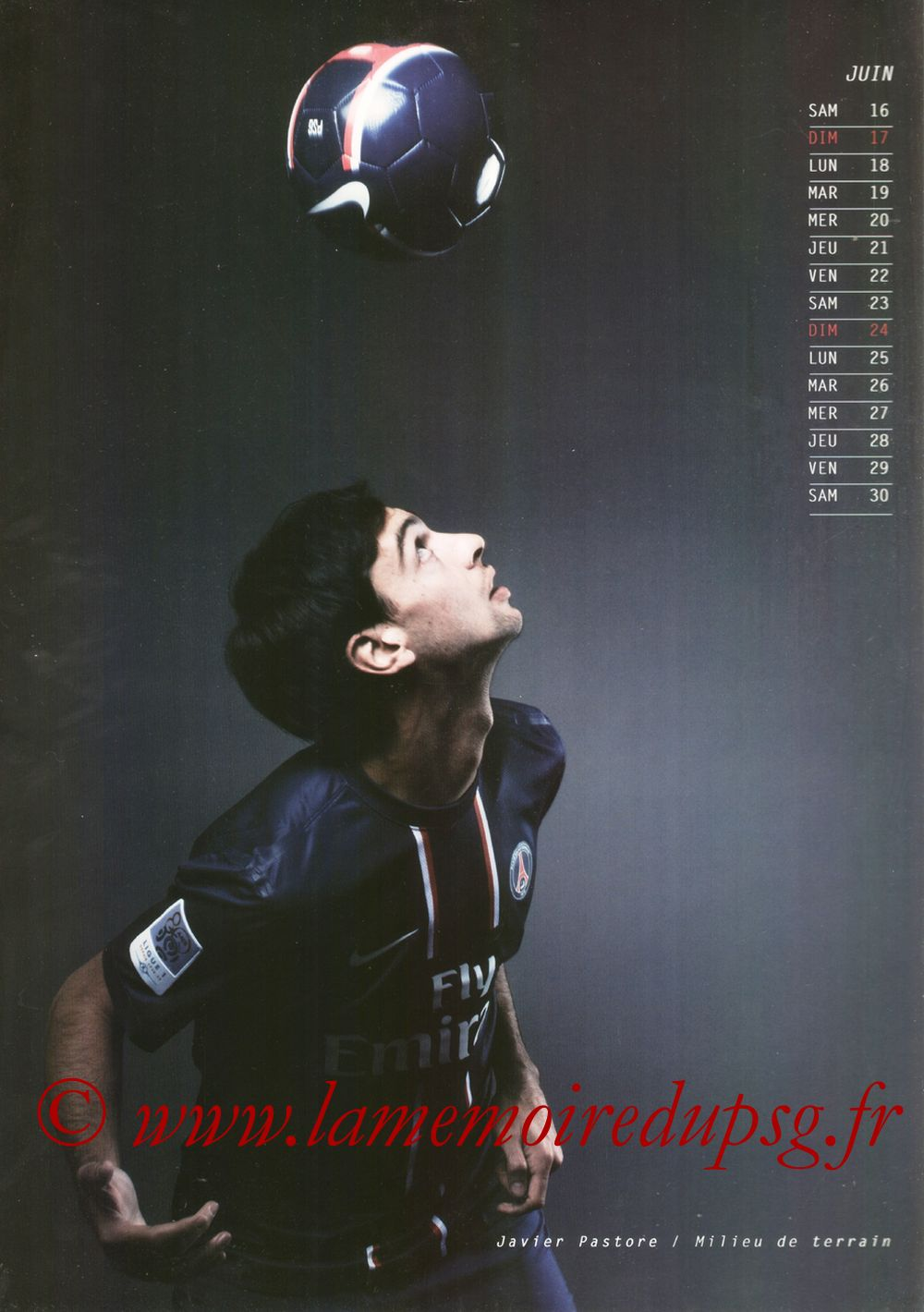 Calendrier PSG 2013 - Page 12 - Javier PASTORE