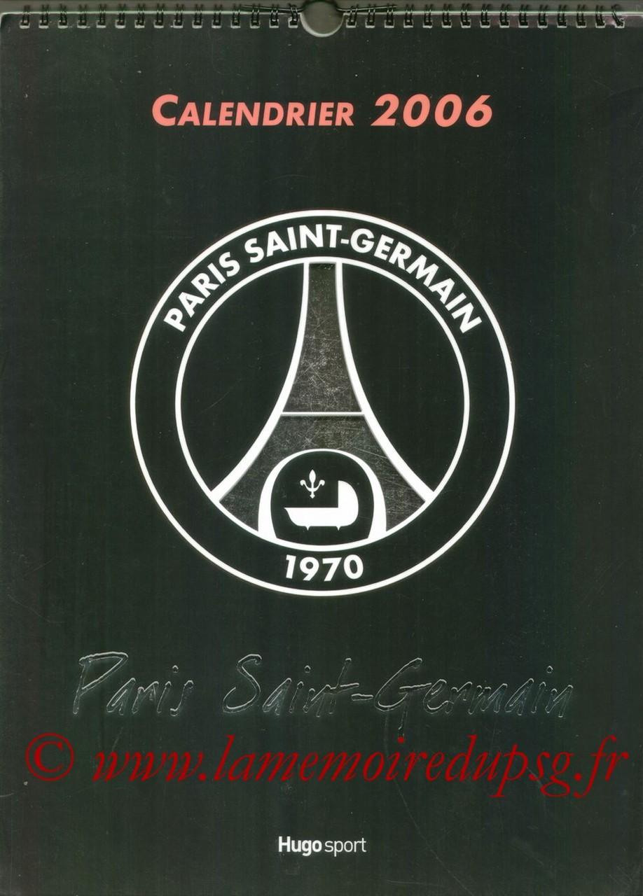 Calendrier PSG 2006 - Couverture