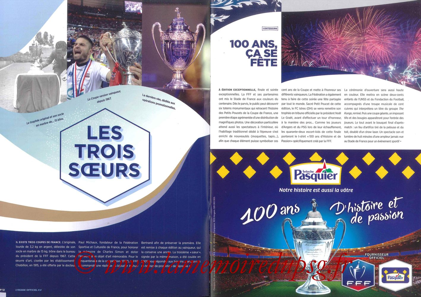 2017-05-27  Angers-PSG (Finale CF à Saint-Denis, Programme officiel) - Pages 12 et 13
